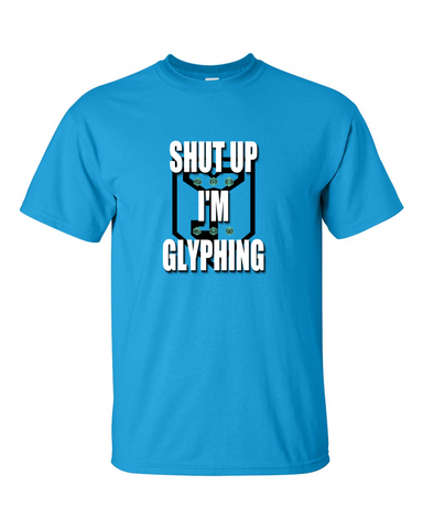 Ingress Resistance T-shirt - Shut Up I'm Glyphing
