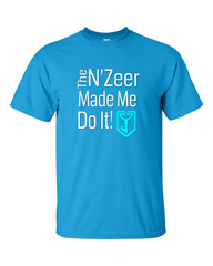 Ingress T-shirt The N'Zeer Made Me Do It - Resistance (light blue)