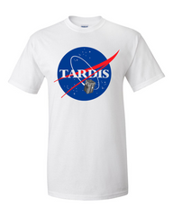 Dr Who Tardis NASA tshirt white