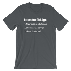 The Bucket List Old Age Quote T-shirt -- Grey