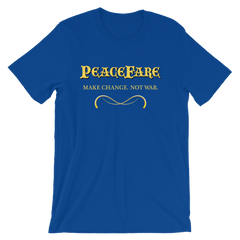 Silicon Valley PeaceFare T-shirt -- blue