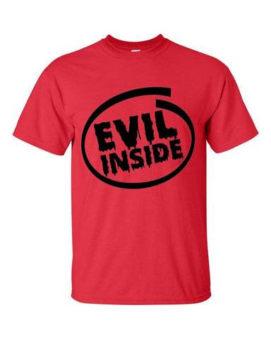 Evil Inside Tshirt Red
