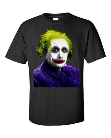 Einstein is The Joker T-shirt -- Black