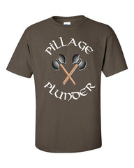 Vikings T-shirt Pillage and Plunder -- Olive