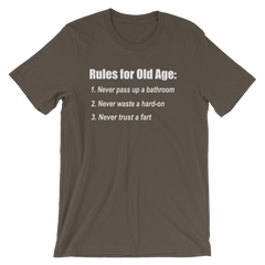 The Bucket List Old Age Quote T-shirt -- Army