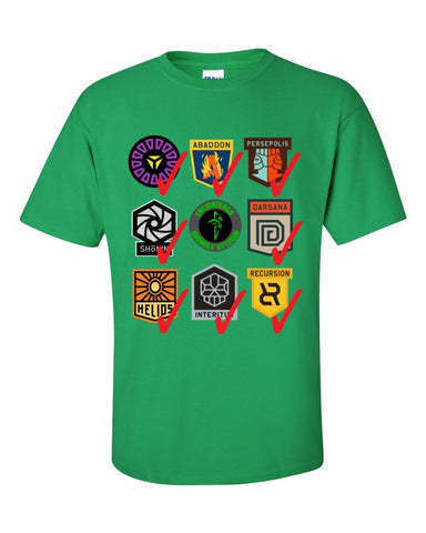 Ingress Anomaly Veteran T-shirt for Enlightened -- Irish Green