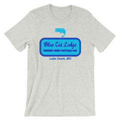 Blue Cat Lodge T-shirt -- Grey