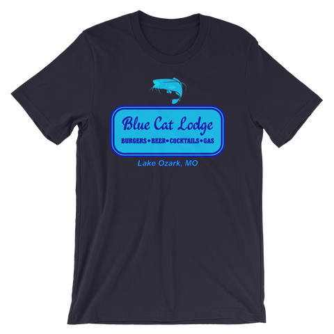 Blue Cat Lodge T-shirt -- Navy