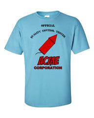 ACME Quality Control Tester T-shirt -- Blue