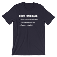 The Bucket List Old Age Quote T-shirt -- Navy