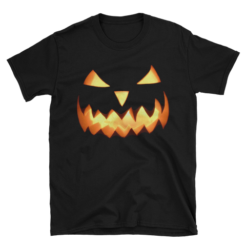 Scary Jack-O-Lantern Halloween T-shirt -- Black