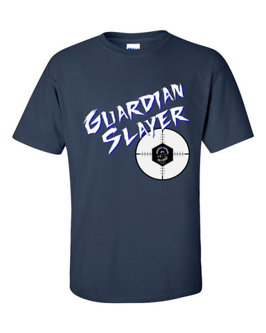 Ingress Guardian Slayer T-shirt for Guardian Hunters -- Navy