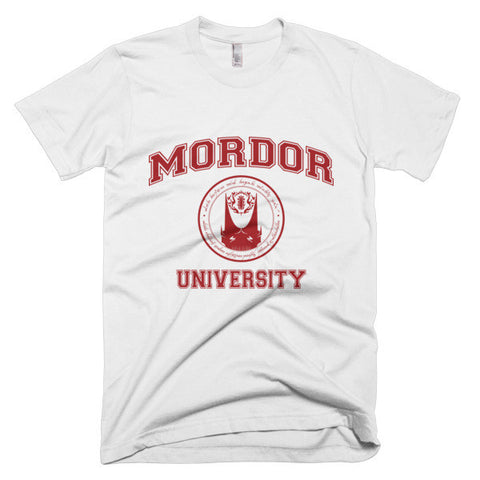 Mordor University Collegate Tshirt White