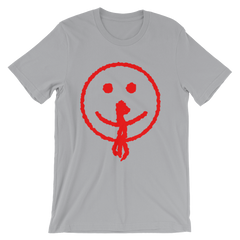 Bloody Smiley Face T-shirt from AHS Cult -- Heather Grey