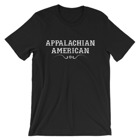 Appalachian American T-shirt -- Black