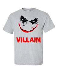 Ash Joker Faced Villain Tshirt