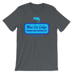Blue Cat Lodge T-shirt -- Asphalt