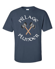 Vikings T-shirt Pillage and Plunder -- Blue