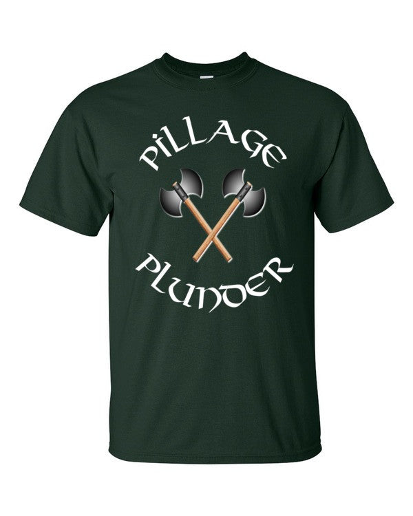 Vikings T-shirt Pillage and Plunder -- Forest