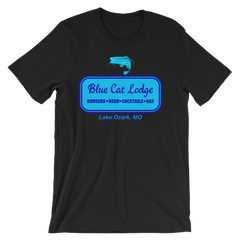 Blue Cat Lodge T-shirt -- Black