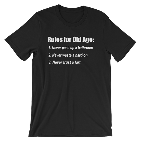 The Bucket List Old Age Quote T-shirt -- Black