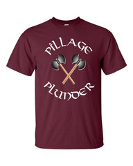 Vikings T-shirt Pillage and Plunder -- Maroon
