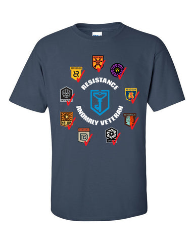 Ingress Resistance Anomaly Veteran T-shirt -- Aegis Nova edition