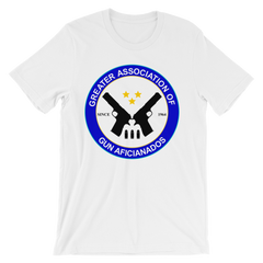 Greater Association of Gun Aficionados T-shirt from Preacher -- white