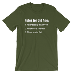 The Bucket List Old Age Quote T-shirt -- Olive