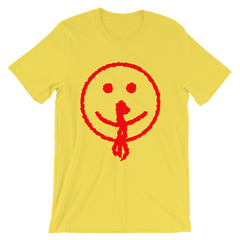 Bloody Smiley Face T-shirt from AHS Cult -- Yellow