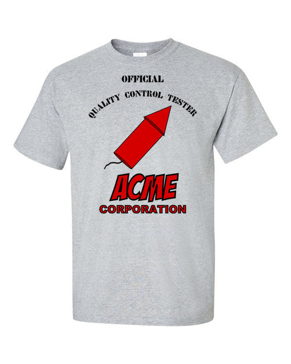 ACME Quality Control Tester T-shirt -- Grey