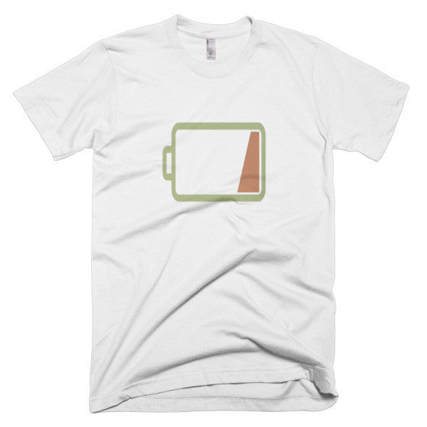 Silicon valley Low Battery Tshirt White