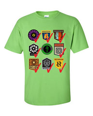 Ingress Anomaly Veteran T-shirt for Enlightened -- Lime Green