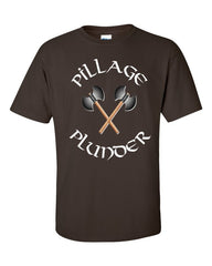 Vikings T-shirt Pillage and Plunder -- Chocolate