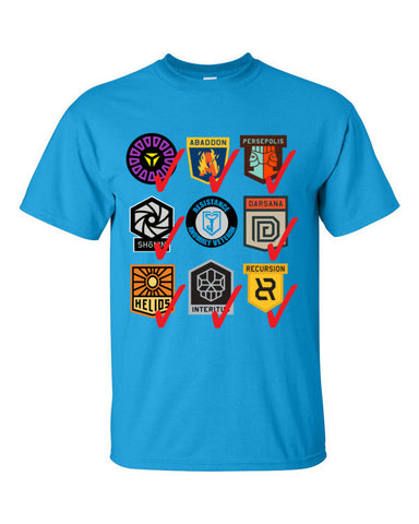 Ingress Anomaly Veteran T-shirt for Resistance -- Sapphire Blue