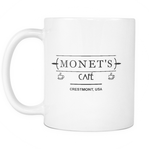 Monet's Cafe Mug White R