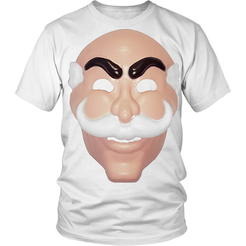 Mr Robot Mask Tshirt White