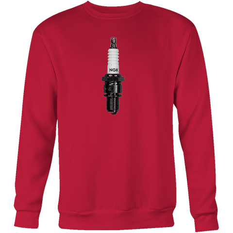 ASH VS EVIL DEAD Pablo Spark Plug NGK R Sweatshirt Blood Red