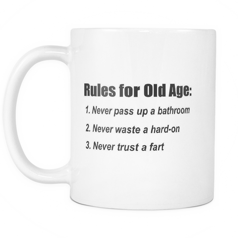 Rules for Old Age Mug