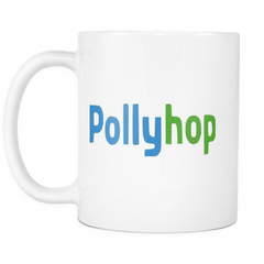 House Of Cards Polly Hop Mug White