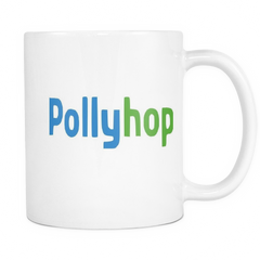 House Of Cards Polly Hop Mug White Left