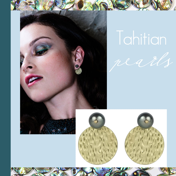 vlmjewelry.com | Tahitian Pearl Gold Hera Earrings | Handmade in Los Angeles