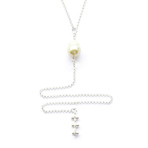 Vaitiare Lariat - Sterling Silver w/ Golden South Sea Pearl