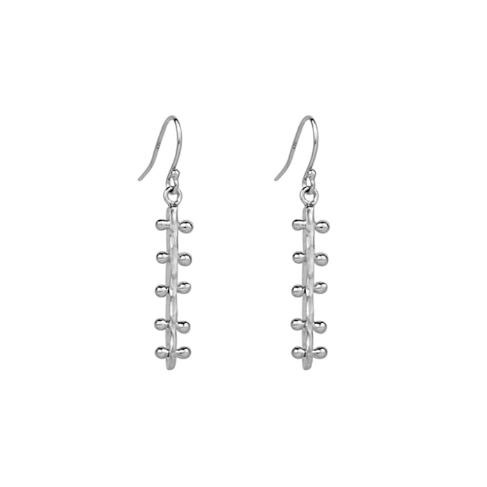 Bar Line Drop Earrings - Sterling Silver