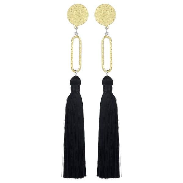 vlmjewelry.com | Brass Talitha Tassel Earrings | Handmade in Los Angeles