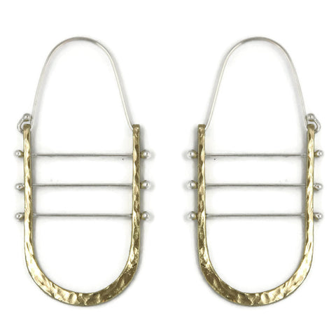 Los Angeles Jewelry Designer Brass Harp Earrings Tessa Thompson Creed II