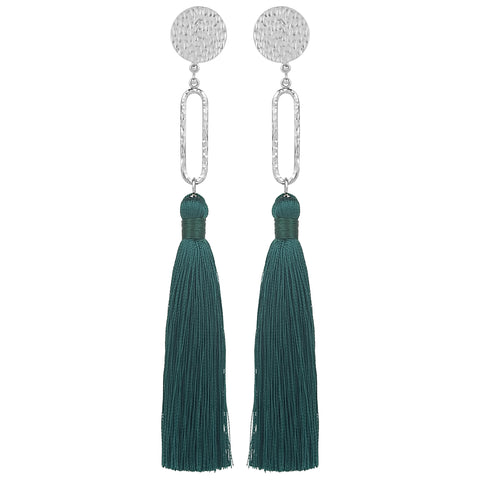 vlmjewelry.com | Silver Talitha Tassel Earrings | Handmade in Los Angeles