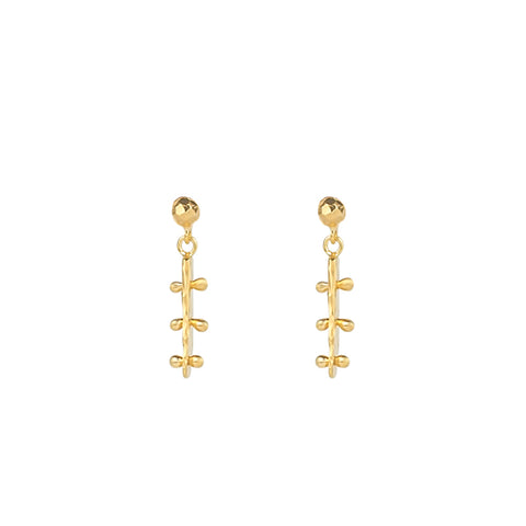 GOLD VERMEIL Earrings Handmade Los Angeles MODERN Designer Jewelry
