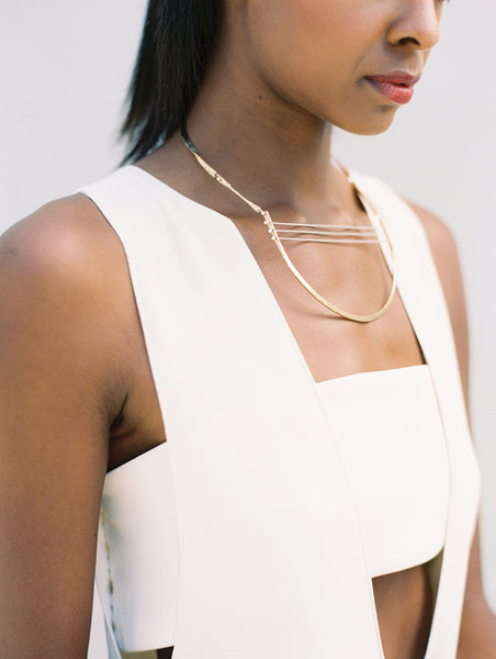 Harp Statement Necklace