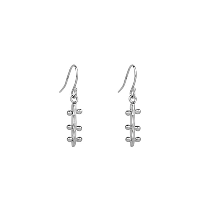 Bar Line Earrings Mini -Sterling Silver
